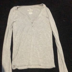 Long sleeve gray American eagle shirt